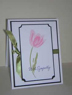 With Sympathy card.  Love the ticket punched corners  the simple elegance.
