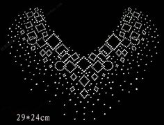 Rhinestone Stencils Patterns | Rhinestones rhinestone pattern sweater neckline hot map decoration ...