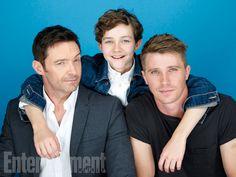 Comic-Con 2015 Star Portraits: Day 3 | Hugh Jackman, Levi Miller, Garrett Hedlund, 'Pan' | EW.com