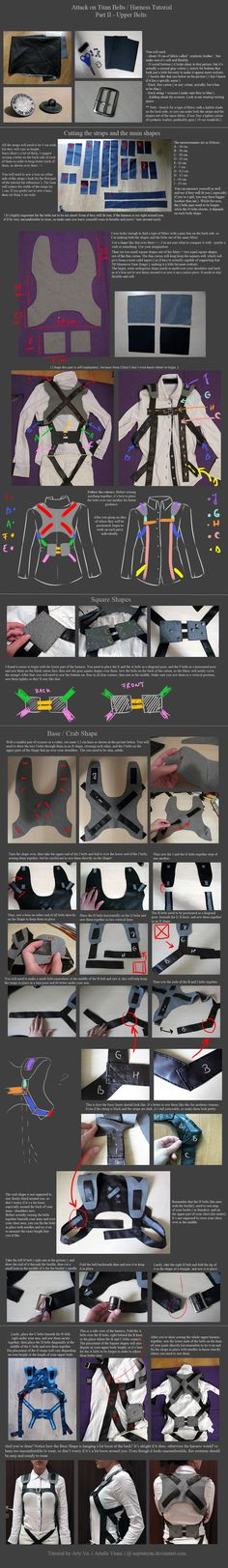 Attack on Titan Belts / Harness tutorial - Part 2 by neptunyan.deviantart.com on @deviantART
