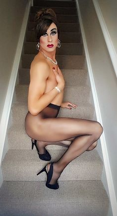 Crossdressers in pantyhose and heels remarkable, rather