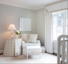 Pink and grey nursery curtains kids window treatments pottery barn pertaining remarkable for girl ideas with . grey and white nursery bedding Baby Nursery Neutral, Chic Nursery, Nursery Curtains Girl, Baby Girl Nursery Wallpaper, Tan Nursery, Bright Nursery, Nursery Fabric, Vintage Nursery, Nautical Nursery
