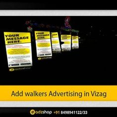 look walkers/ad walkers advertising in Vizag, Andhra Pradesh.