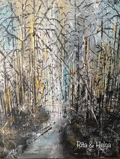 18x24 cm original acrylic painting Rita & Helga wall decor #original #acryl #abstract #painting #modern #walldecor #forest Wall Decor, Paintings, The Originals, Abstract, Modern, Outdoor, Wall Hanging Decor, Summary, Outdoors