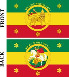 In Africa, Ethiopia is the oldest independent country and also has one of the longest recorded histories in the world, including a long list of monarchs. Here we see the Imperial flag of Haile Selassie, the country's last emperor. Haile Selassie, Rastafari Art, Ethiopian Flag, History Of Ethiopia, African States, Horn Of Africa, African Royalty, Cross Art, Custom Flags