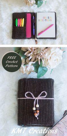 The KMT Notebook Nook   FREE Crochet Pattern   5x7 notebook - A5 Planner