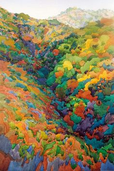 October Canyon, painted on South Gate Road, Mount Diablo by Robin Purcell
