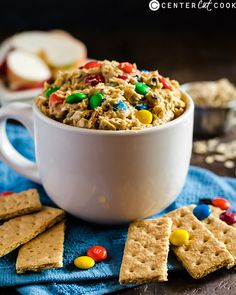 Monster Cookie Dough Dip- quick, easy, eggless, and so delicious! Sure to be a hit with everyone.
