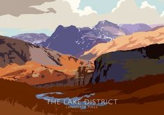 The Lake District - Langdale Pikes Greeting Card by Peter McDermott available to buy from Bay Attic. Secure Online Shopping, Free UK Shipping on orders ov. Vintage Travel Posters, Poster Vintage, Graphic Quotes, Photography Gifts, Poster Ads, Paint By Number, Lake District, Online Gallery, Art Prints