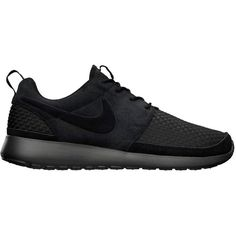 Nike Roshe Run Woven 'Black/Anthracite' ❤ liked on Polyvore featuring shoes, sneakers, nike, sport and black