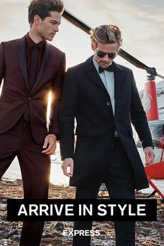 I love the suit on the left