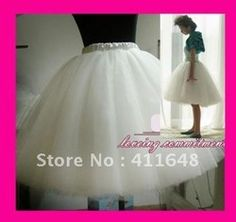 mobile site-Womens Gauze Tulle Balley Pincess TUTU Skirt White Black Pink Champagne Free Shipping Wholesale & Retail