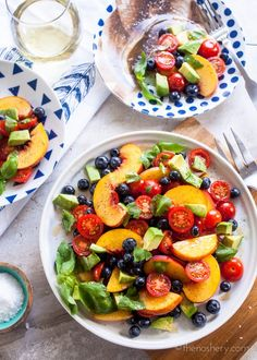 Summer Fruit Dinner Salad | TheNoshery.com