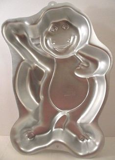 Wilton Cake Pan 1993 Barney the Purple Dinosaur Metal Baking 16 x 10 Inches #Wilton