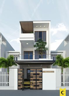 Best Home Design Apartments Layout Ideas Two Story House Design, House Front Design, Small House Design, Modern House Design, Narrow House Designs, Latest House Designs, Cool House Designs, Apartment Layout, Apartment Design