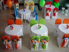 Decoração das cadeiras para festa infantil