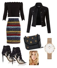 """Unbenannt #841"" by sarah-ochmann ❤ liked on Polyvore featuring Alice + Olivia, Alexander McQueen, Gianvito Rossi, LE3NO, STELLA McCARTNEY and Daniel Wellington"