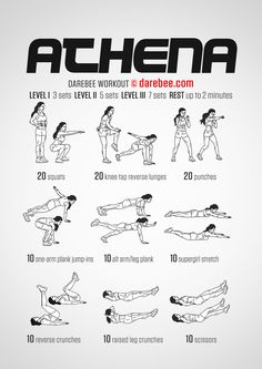Athena Workout - New Darebee codename for Wonder Woman workout (since stupid WB trademark stuff)