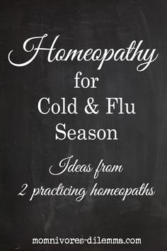 Homeopathic Remedies for Cold and Flu Season