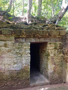 The entrance into Mayan ruins of El Mirador Guatemala