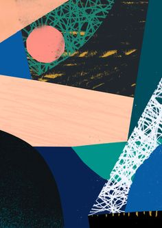 'Contact' - Tom Abbiss Smith #abstract #collage #illustration #art #contemporary #design