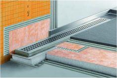 Linear Shower Drain - Schluter Kerdi-Line Frameless Shower Grate