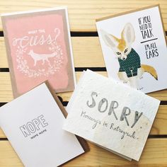 Monday's feel like Mercury is always in retrograde. But if you need to talk we're all ears. Brighten someone's workweek with a card from our handmade collection!