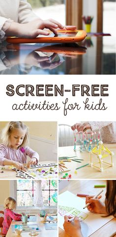 A week's worth of simple art activities the kids can do on their own!