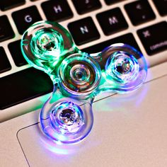 Cheap spinner, Buy Quality spinner toy Directly from China Suppliers:New Crystal LED Fidget Spinners Flash Light EDC Finger Tri Spinner For Autism ADHD Relief Focus Anxiety Stress Relax Gift Toys Cool Fidget Spinners, Cool Fidget Toys, Fidget Spinner Toy, Cool Toys, Hand Spinner, Tri Spinner, Hand Fidgets, Relaxation Gifts, Edc