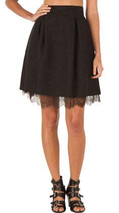 The Little Black Skirt. Perfection <3<3