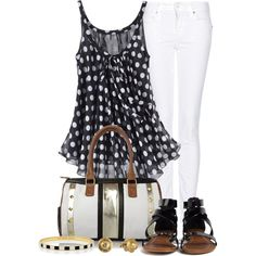 """Stripes and Dots Contest #1"" by lifebeautiful on Polyvore"