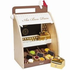 Janod Patisserie play set with chocolates and cakes