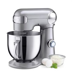 Cuisinart - Tilt-Back Head Stand Mixer with 1 Power Outlet in Brushed Chrome - Mixers Stand Mixer Reviews, Best Stand Mixer, Specialty Appliances, Small Appliances, Kitchen Appliances, Kitchen Gadgets, Kitchen Stuff, Kitchen Ideas, Awesome Kitchen