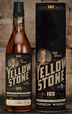 David Cole, Steven Noble - Yellowstone Bourbon Whiskey — World Packaging Design Society│Home of Packaging Design│Branding│Brand Design│CPG Design│FMCG Design Whisky, Bourbon Whiskey, Whiskey Label, Whiskey Brands, Scotch Whiskey, Coffee Packaging, Beverage Packaging, Bottle Packaging, Chocolate Packaging