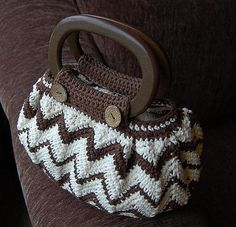 "Ravelry: ""Chasing Chevrons"" Handbag / Purse pattern by Jennifer Pionk"