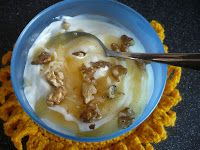 Breakfast Ideas. Day 4, Natural Yoghurt with Lemon Curd and English Walnuts