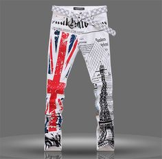 Cheap jeans pants for men, Buy Quality jeans pants directly from China printed jeans Suppliers: 2016 New Fashion Mens Flag Printed Jeans Straight Slim Fit Trousers Plus Size 40 Casual Jeans Pants For Men Printed Trousers, Slim Fit Trousers, Slim Jeans, Skinny Jeans, Jeans 2014, Gucci Jeans, Jean Straight, Sari, Jeans And Sneakers