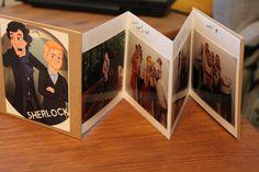 Sherlock inspired Thank you card