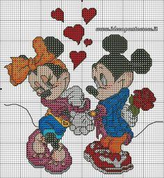 Schema topolino e minnie s.valentino
