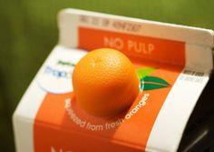 Orange Juice Packaging :D Juice Packaging, Cool Packaging, Beverage Packaging, Brand Packaging, Packaging Ideas, Packaging Design Inspiration, Orange Juice, Orange Orange, Op Art