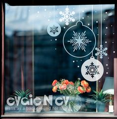 Snowflakes Ornament Stickers   Holiday Decor  Decals  by evgieNev, $35.00