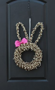 Easter Wreath Bunny Wreath Spring Wreath by EverBloomingOriginal
