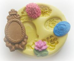 Rose Cameo Silicone Mold Fondant Moulds by Molds4You on Etsy, $9.95