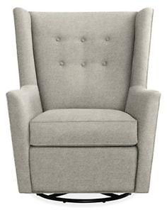Wren Swivel Glider Chair & Ottoman in Sunbrella® Canvas Fabric - Rockers & Gliders - Kids - Room & Board