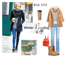"""""""Winter"""" by alkpits on Polyvore featuring Frame Denim, Studio 8, Chicnova Fashion, Marc by Marc Jacobs, UGG Australia, Bobbi Brown Cosmetics, Chronicle Books and Kate Spade"""