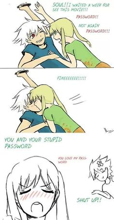 Soul x Maka - Soul Eater. Okay this could quite possibly be the cutest thing ever
