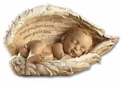 Sleeping Baby Angel Wings Infant Miscarriage Memorial - for my little one who would have been 5 years old this month. Baby Angel Wings, Angel Babies, I Believe In Angels, Angels In Heaven, Heavenly Angels, Poems Beautiful, Beautiful Friend, Angel Statues, Virgin Mary