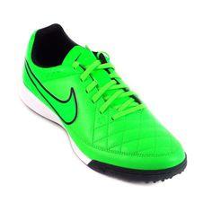 b62567d71a Chuteira Nike Society Tiempo Genio Leather TF Casual Masculino Verde Branco  Para a prática de atividades físicas
