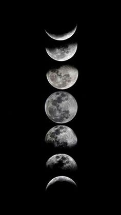 Phases of the moon by eftypography face da lua, the moon, all moon phases