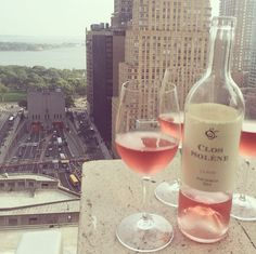 Cheers to NOT commuting and drinking rosé instead.